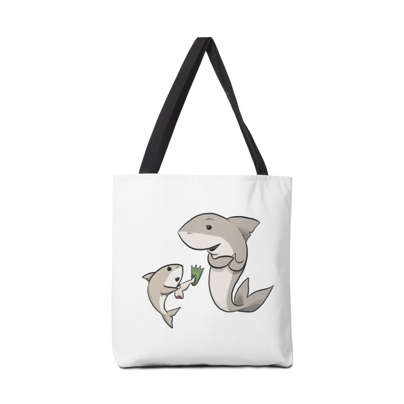 Sharks Accessories Tote Bag Bag by cryptopop's Artist Shop