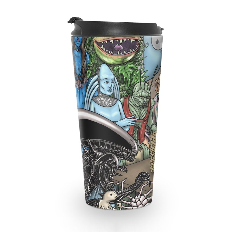 Alien Jenga Accessories Travel Mug by cryptopop's Artist Shop