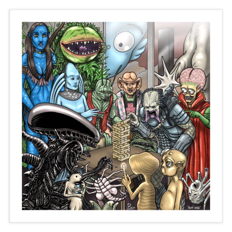 Alien Jenga Home Fine Art Print by cryptopop's Artist Shop
