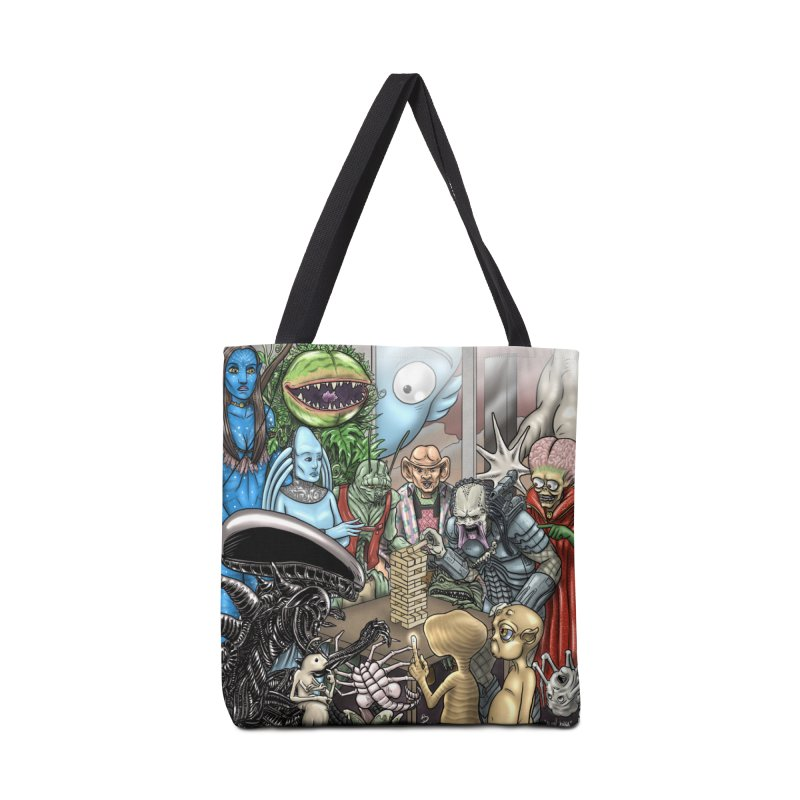 Alien Jenga Accessories Tote Bag Bag by cryptopop's Artist Shop