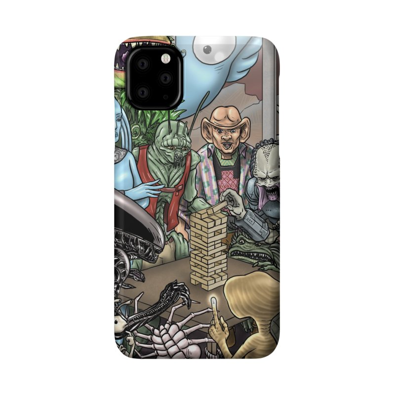 Alien Jenga Accessories Phone Case by cryptopop's Artist Shop