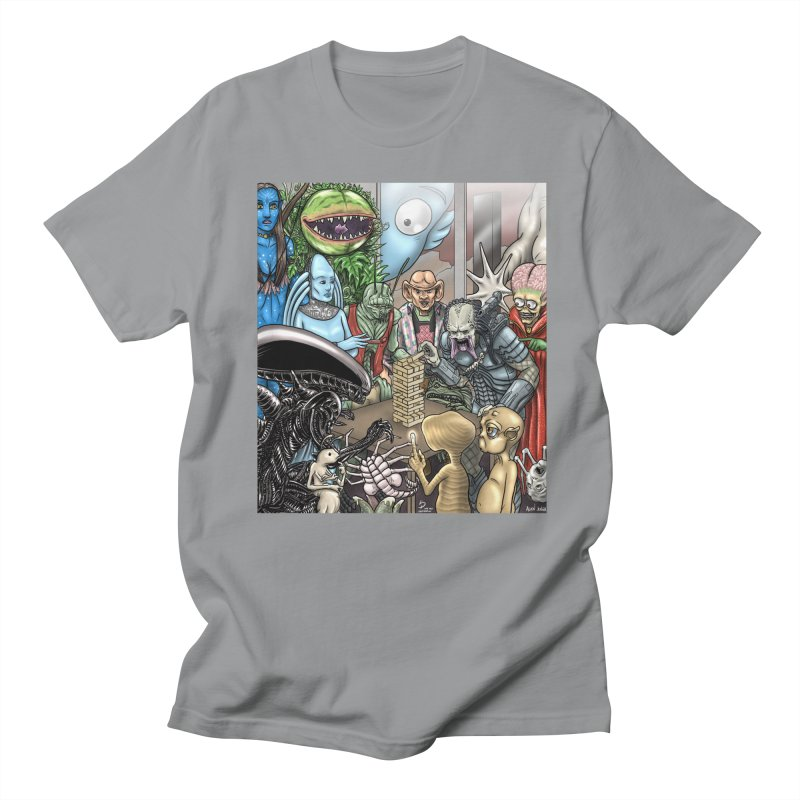 Alien Jenga Men's Regular T-Shirt by cryptopop's Artist Shop