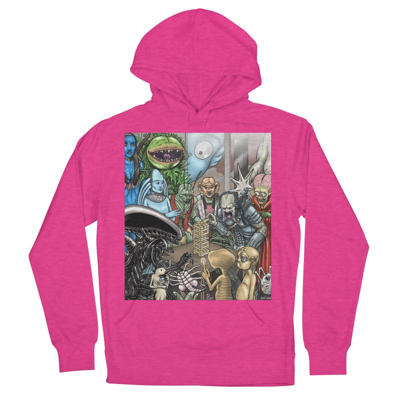 Alien Jenga Women's French Terry Pullover Hoody by cryptopop's Artist Shop