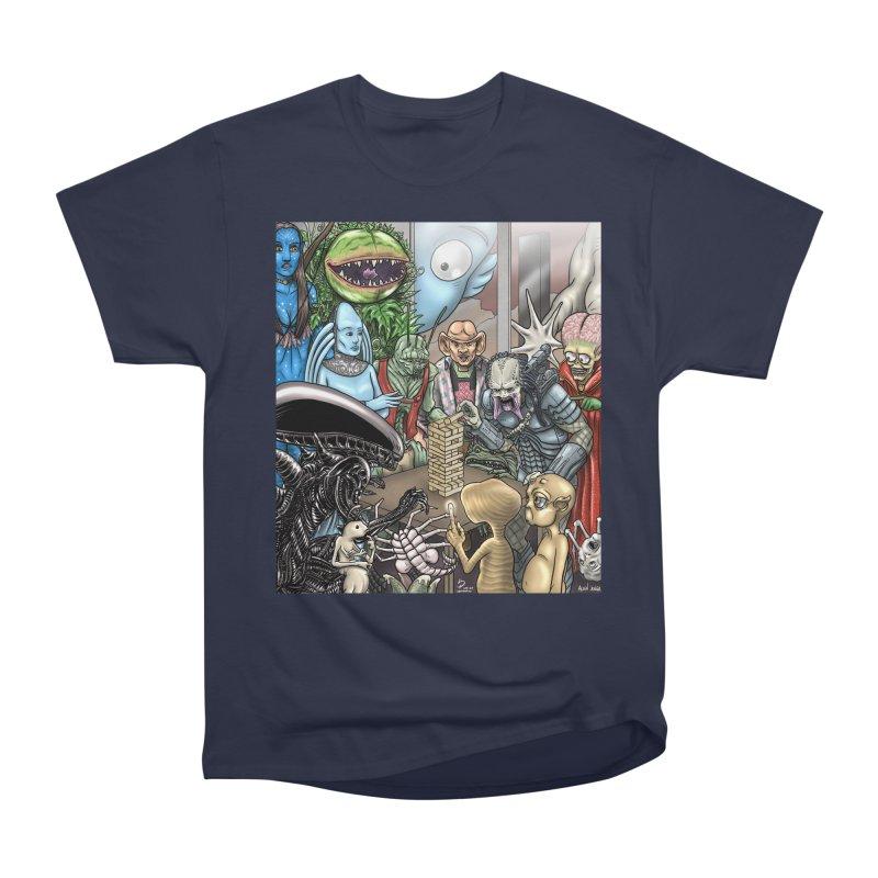 Alien Jenga Women's Heavyweight Unisex T-Shirt by cryptopop's Artist Shop