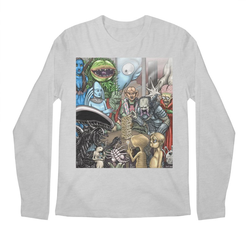 Alien Jenga Men's Regular Longsleeve T-Shirt by cryptopop's Artist Shop