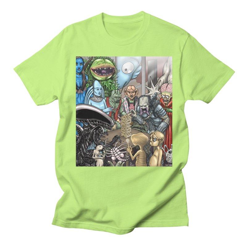 Alien Jenga Women's Regular Unisex T-Shirt by cryptopop's Artist Shop