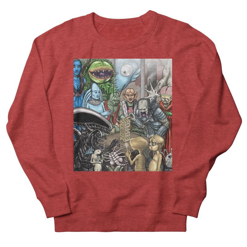 Alien Jenga Women's French Terry Sweatshirt by cryptopop's Artist Shop
