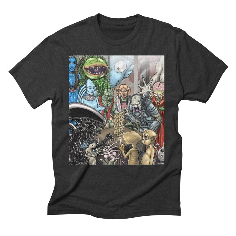 Alien Jenga Men's Triblend T-Shirt by cryptopop's Artist Shop