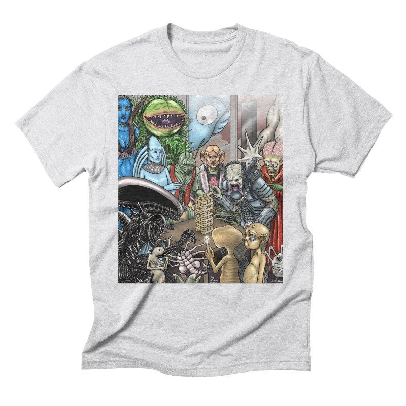 Alien Jenga Men's Triblend T-Shirt by cryptopop's Artist Shop