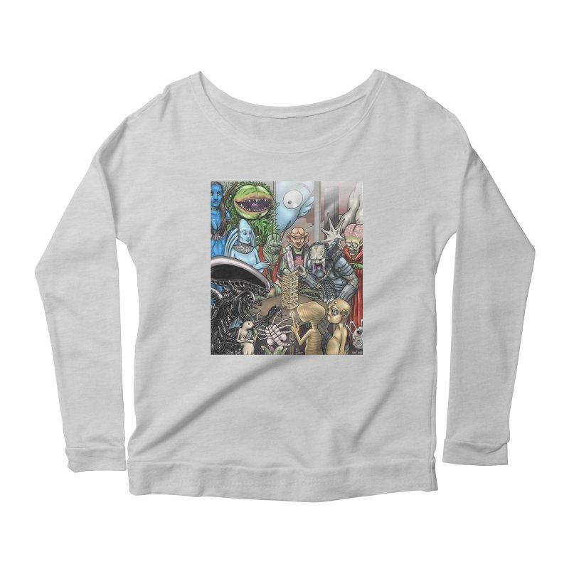 Alien Jenga Women's Scoop Neck Longsleeve T-Shirt by cryptopop's Artist Shop