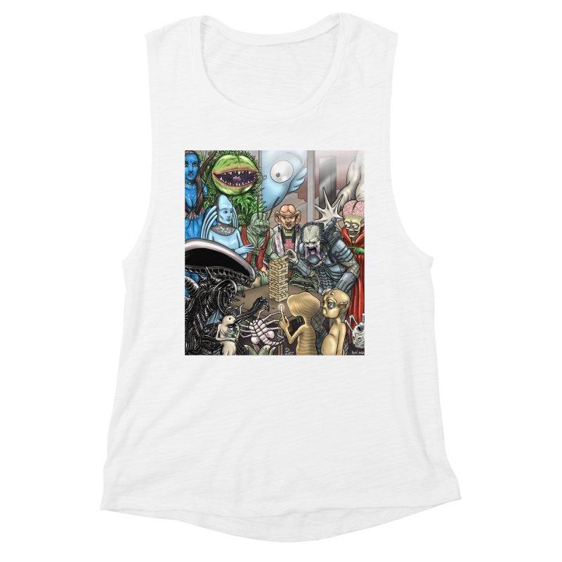 Alien Jenga Women's Muscle Tank by cryptopop's Artist Shop
