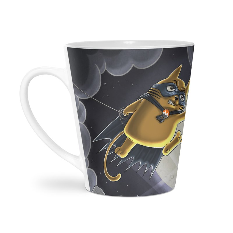 Monero Cat Over the Moon Accessories Latte Mug by cryptopop's Artist Shop