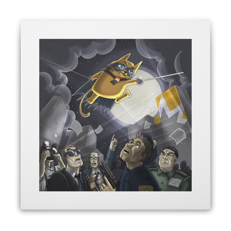 Monero Cat Over the Moon in Stretched Canvas by cryptopop's Artist Shop