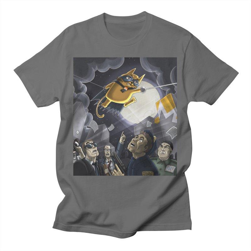 Monero Cat Over the Moon Men's T-Shirt by cryptopop's Artist Shop