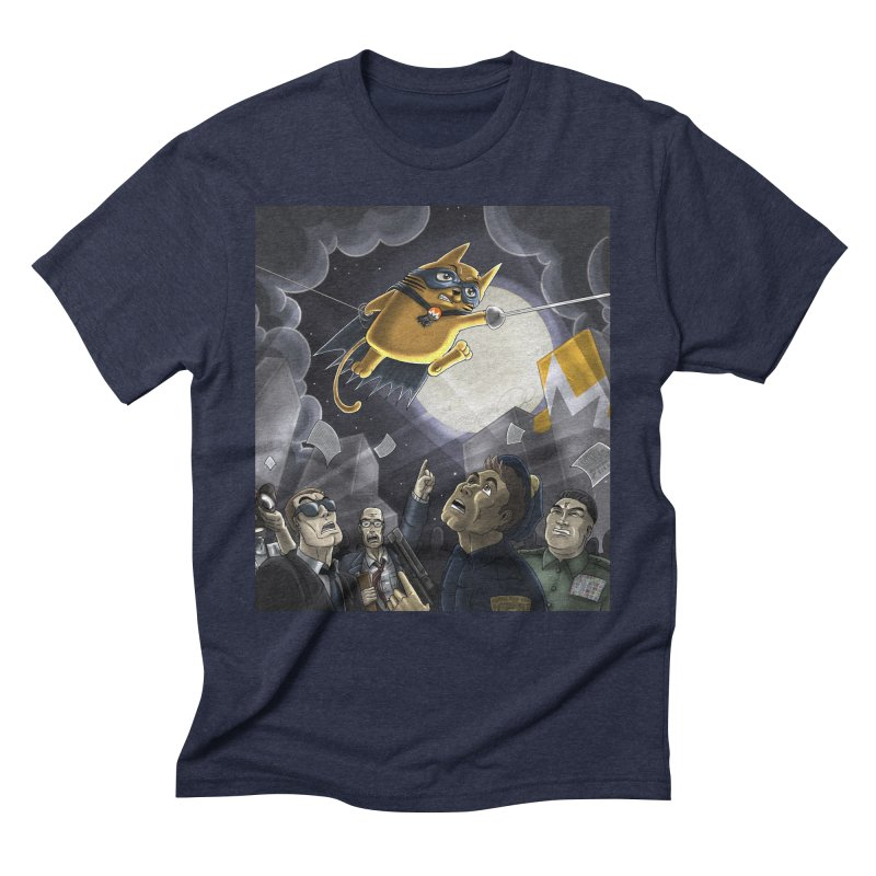 Monero Cat Over the Moon Men's Triblend T-Shirt by cryptopop's Artist Shop