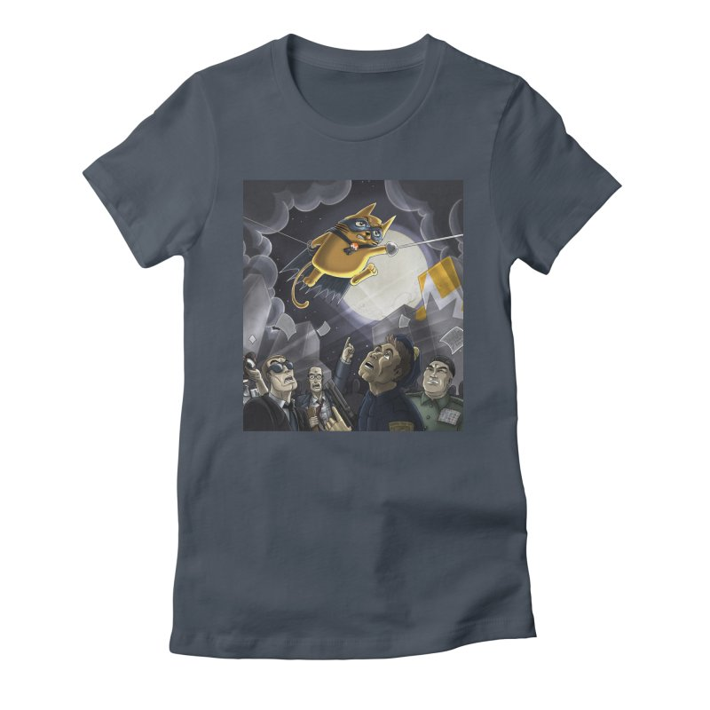 Monero Cat Over the Moon Women's T-Shirt by cryptopop's Artist Shop