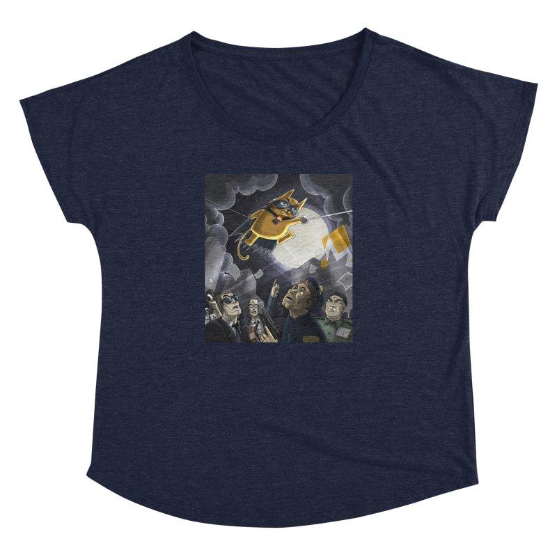 Monero Cat Over the Moon Women's Dolman Scoop Neck by cryptopop's Artist Shop