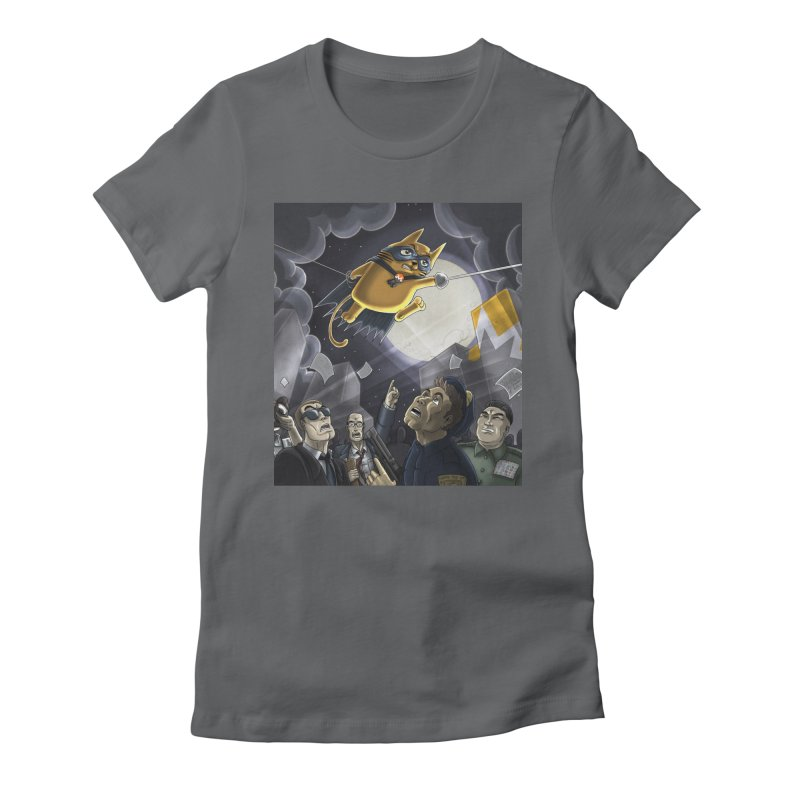 Monero Cat Over the Moon Women's Fitted T-Shirt by cryptopop's Artist Shop