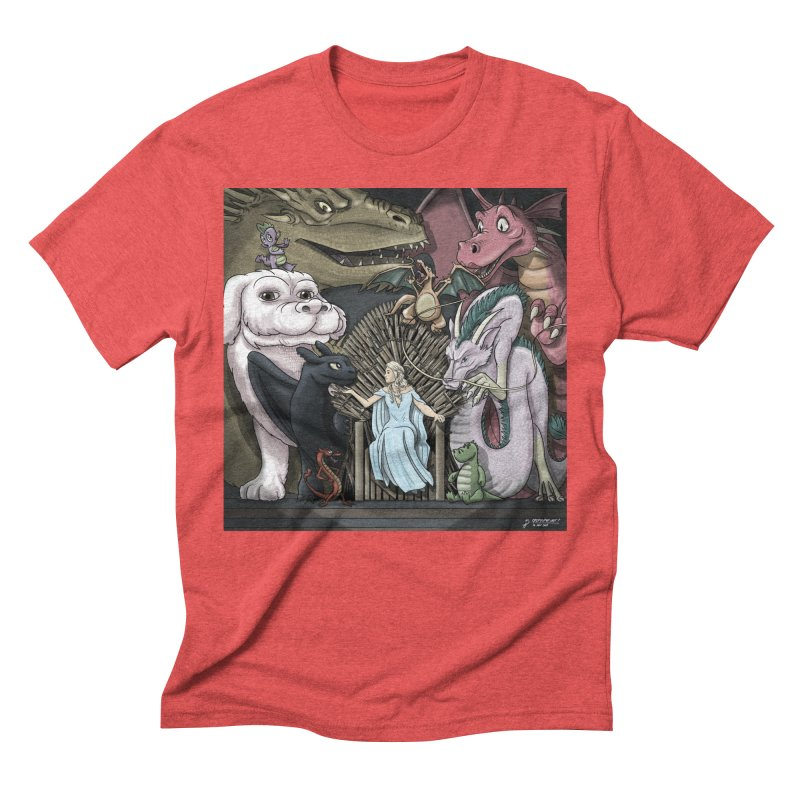 Mother of Dragons Men's Triblend T-Shirt by cryptopop's Artist Shop