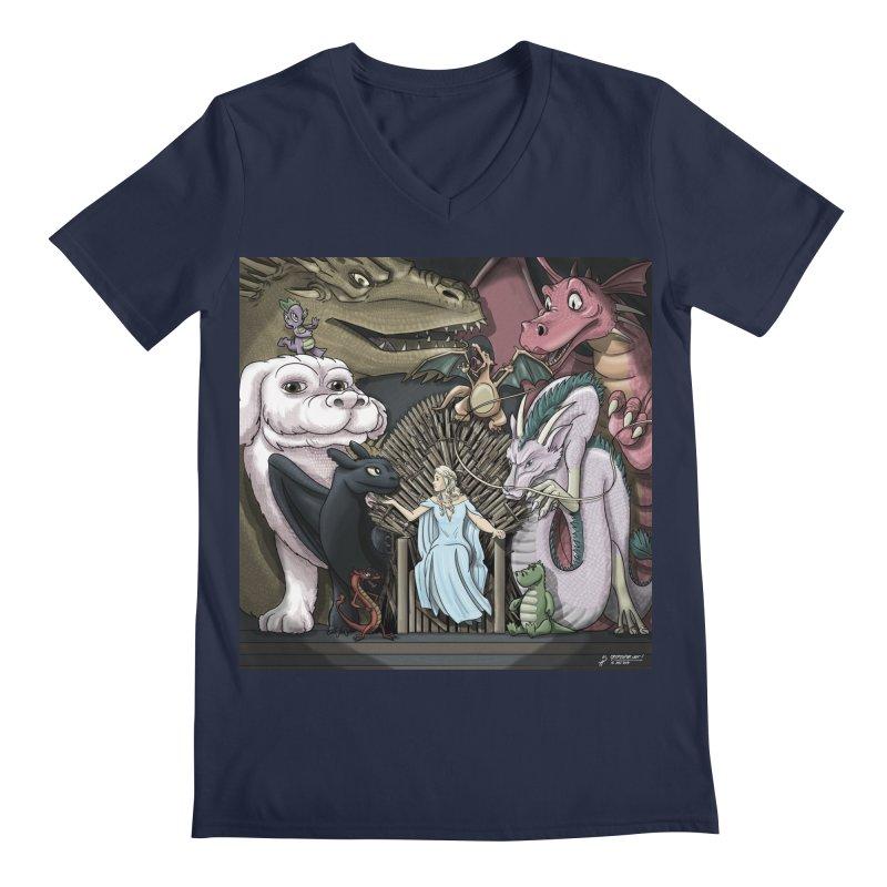 Mother of Dragons Men's Regular V-Neck by cryptopop's Artist Shop