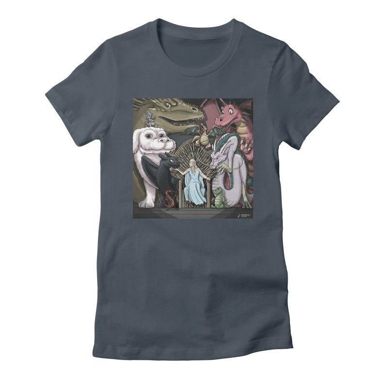 Mother of Dragons Women's Fitted T-Shirt by cryptopop's Artist Shop