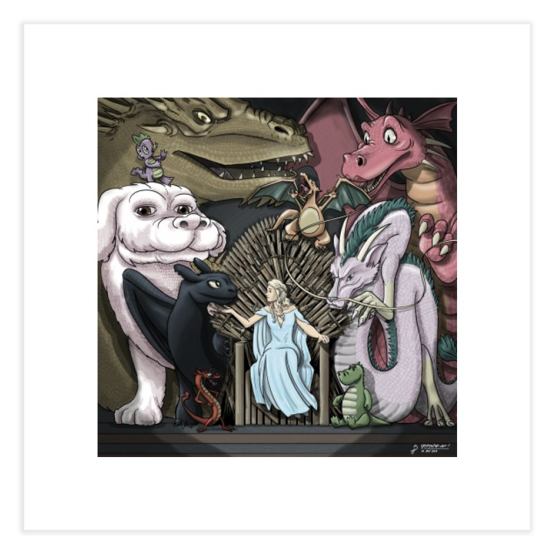 Mother of Dragons Home Fine Art Print by cryptopop's Artist Shop