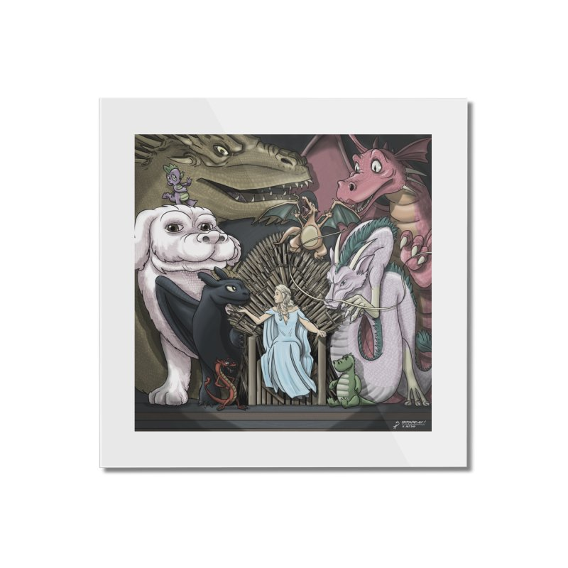 Mother of Dragons Home Mounted Acrylic Print by cryptopop's Artist Shop