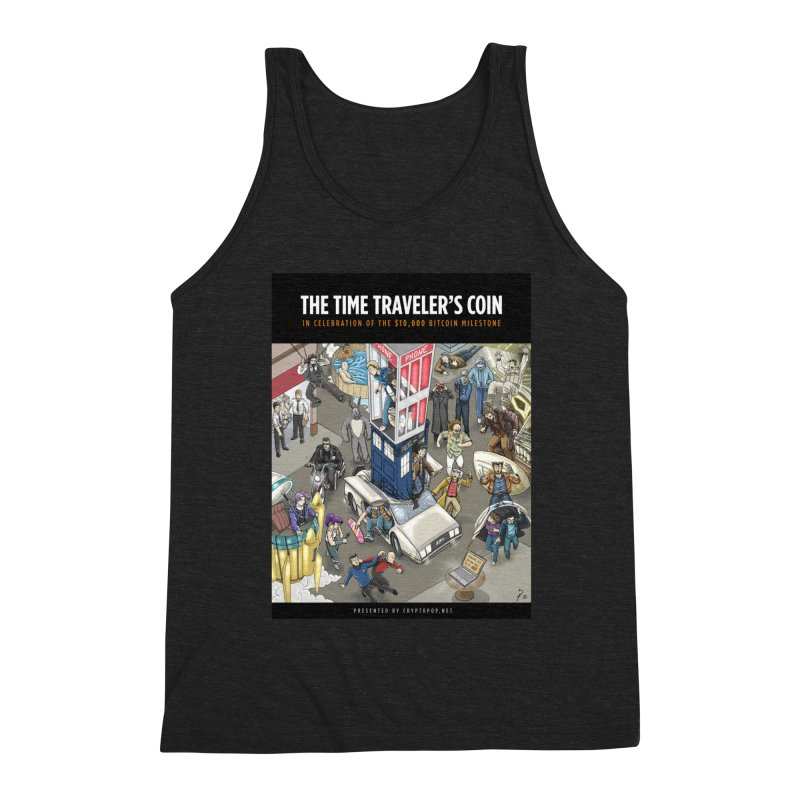 The $10,000 Bitcoin Men's Triblend Tank by cryptopop's Artist Shop