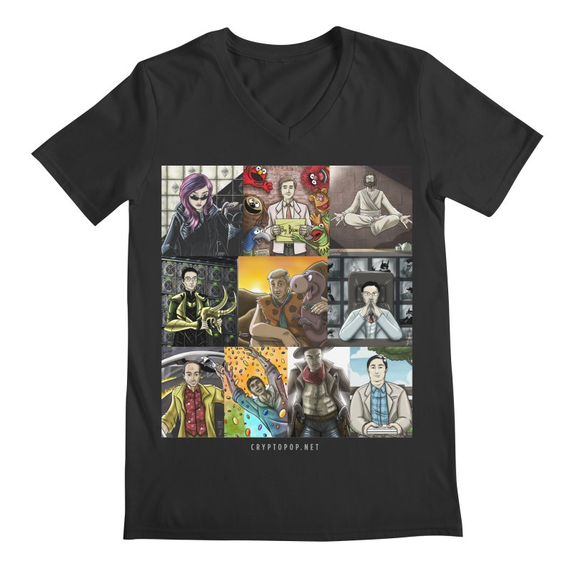 Coindesk's Most Influential People in Crypto 2017 Men's Regular V-Neck by cryptopop's Artist Shop