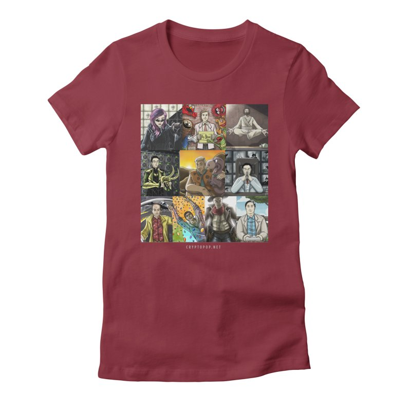 Coindesk's Most Influential People in Crypto 2017 Women's Fitted T-Shirt by cryptopop's Artist Shop