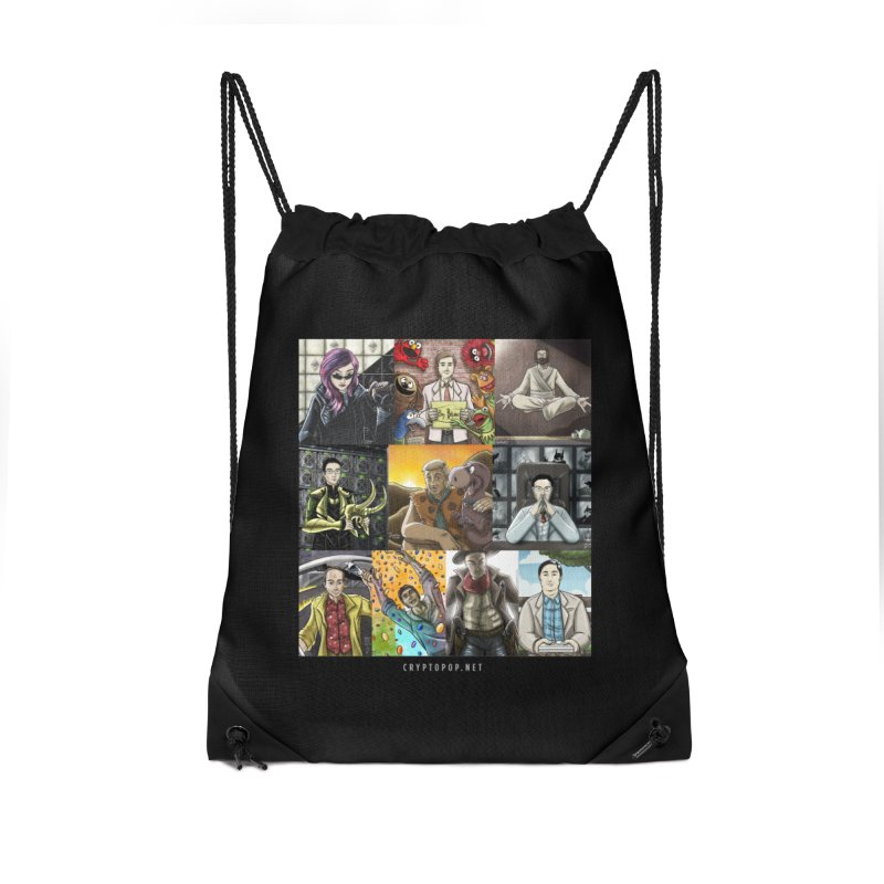 Coindesk's Most Influential People in Crypto 2017 Accessories Drawstring Bag Bag by cryptopop's Artist Shop