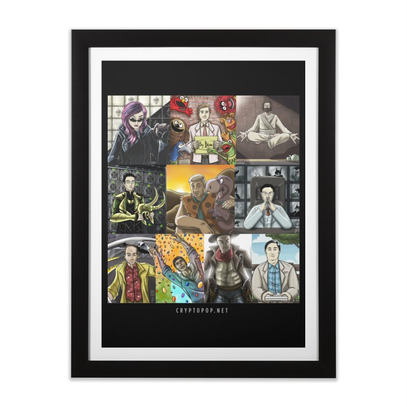 Coindesk's Most Influential People in Crypto 2017 Home Framed Fine Art Print by cryptopop's Artist Shop