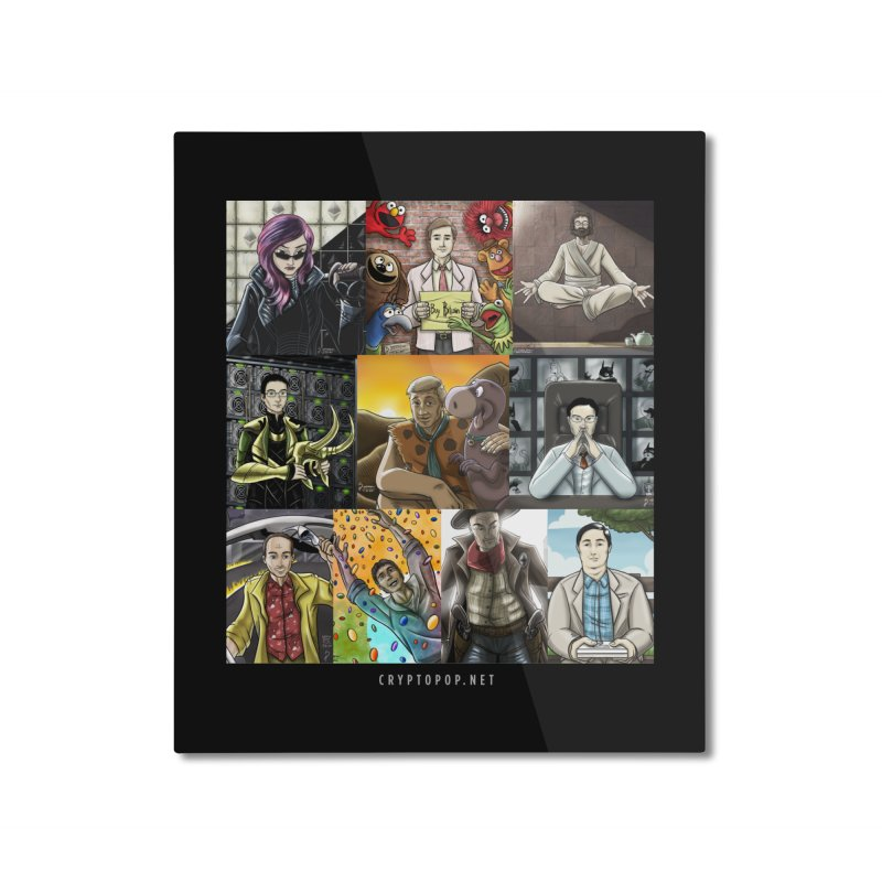Coindesk's Most Influential People in Crypto 2017 Home Mounted Aluminum Print by cryptopop's Artist Shop