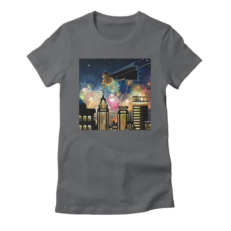 MoneroCat 2018 Women's Fitted T-Shirt by cryptopop's Artist Shop
