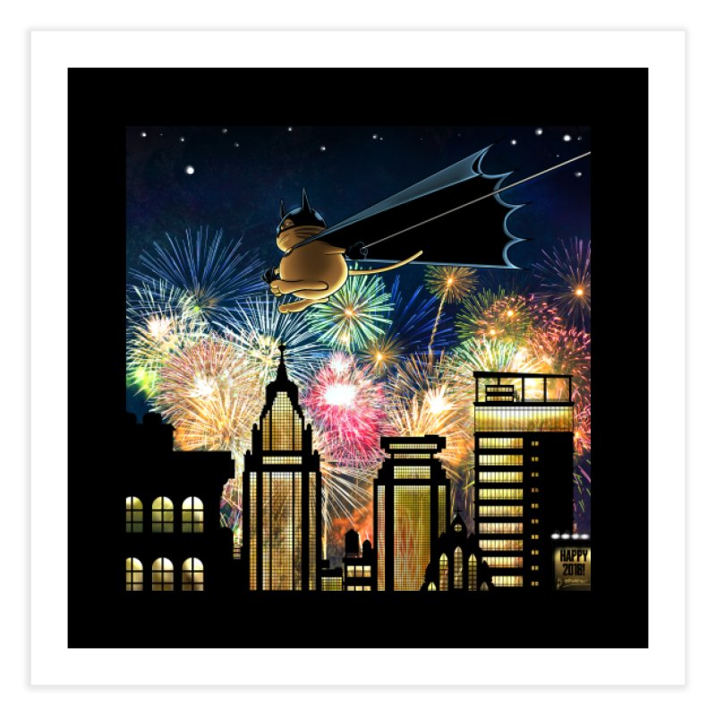 MoneroCat 2018 Home Fine Art Print by cryptopop's Artist Shop