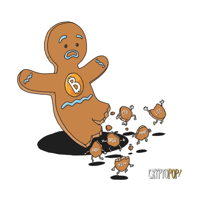 Bitcoin Gingerbread Man Women's T-Shirt by cryptopop's Artist Shop