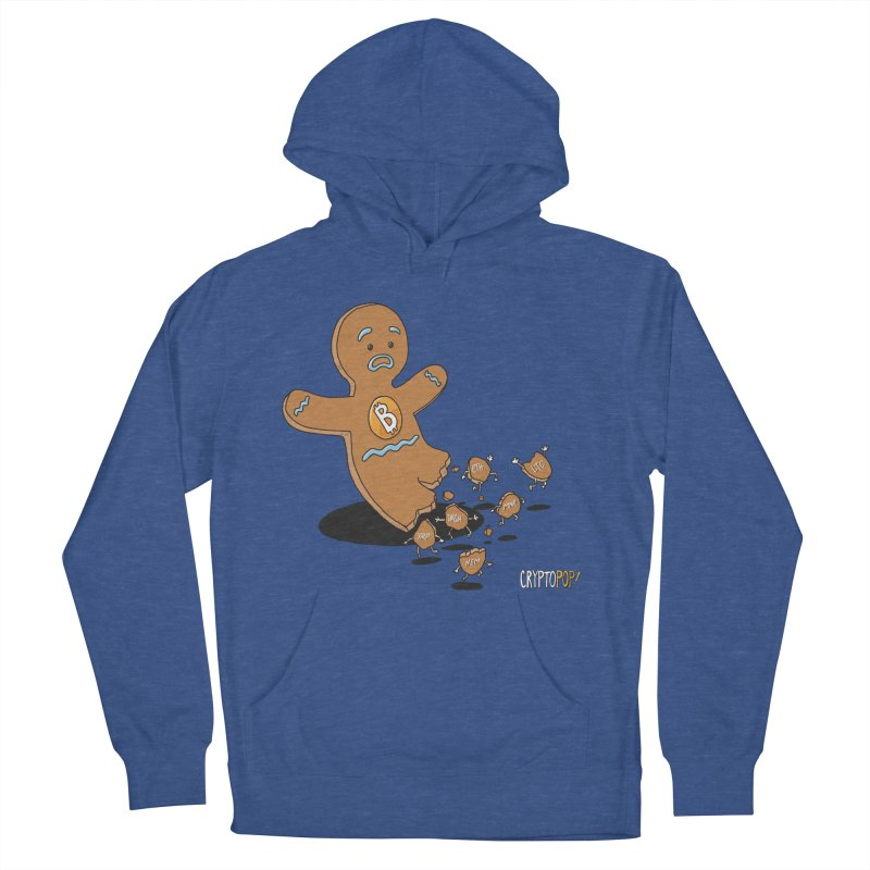 Bitcoin Gingerbread Man Women's French Terry Pullover Hoody by cryptopop's Artist Shop