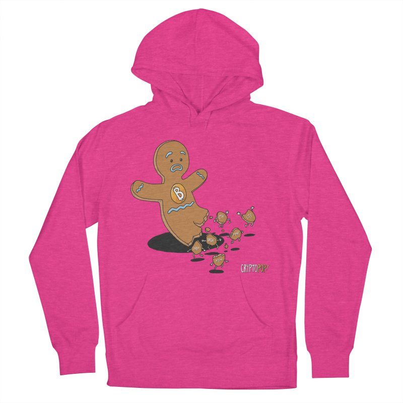 Bitcoin Gingerbread Man Men's French Terry Pullover Hoody by cryptopop's Artist Shop