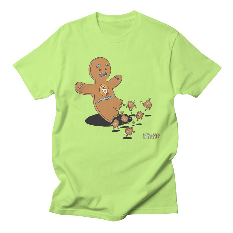 Bitcoin Gingerbread Man Men's Regular T-Shirt by cryptopop's Artist Shop