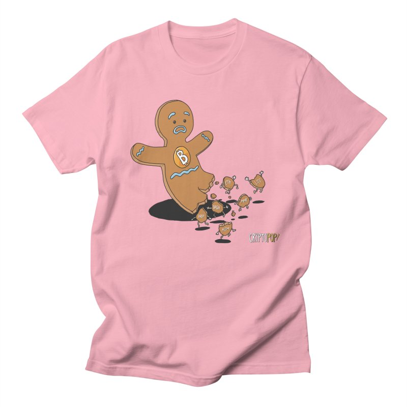 Bitcoin Gingerbread Man Women's Regular Unisex T-Shirt by cryptopop's Artist Shop