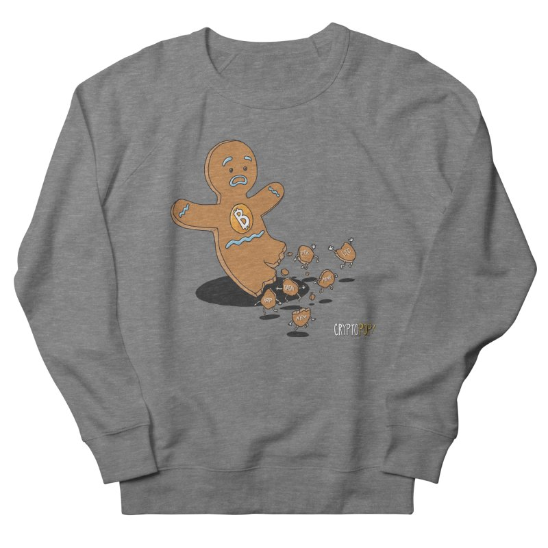 Bitcoin Gingerbread Man Women's French Terry Sweatshirt by cryptopop's Artist Shop