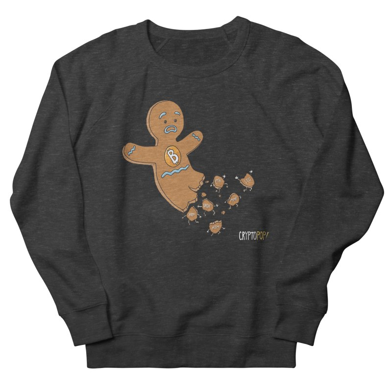 Bitcoin Gingerbread Man Men's French Terry Sweatshirt by cryptopop's Artist Shop