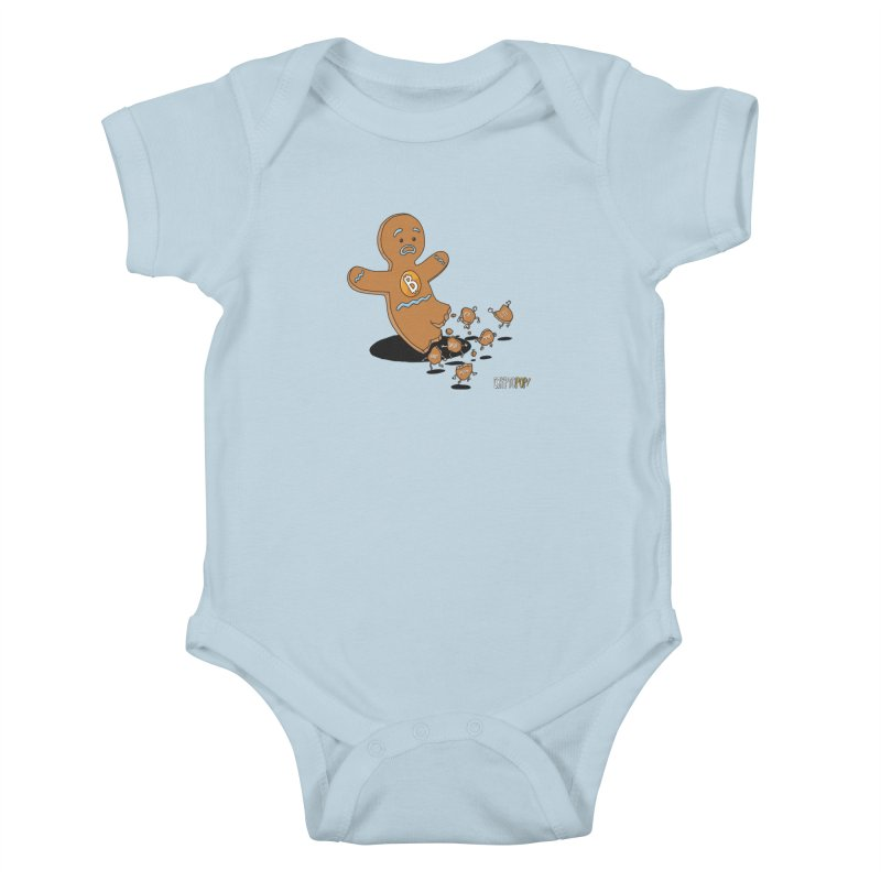 Bitcoin Gingerbread Man Kids Baby Bodysuit by cryptopop's Artist Shop