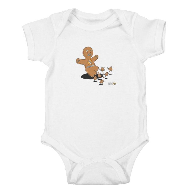 Bitcoin Gingerbread Man Kids Baby Bodysuit by cryptopop's Artist Shop