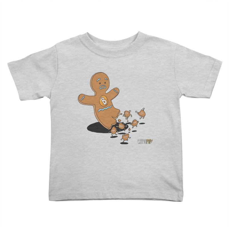 Bitcoin Gingerbread Man Kids Toddler T-Shirt by cryptopop's Artist Shop