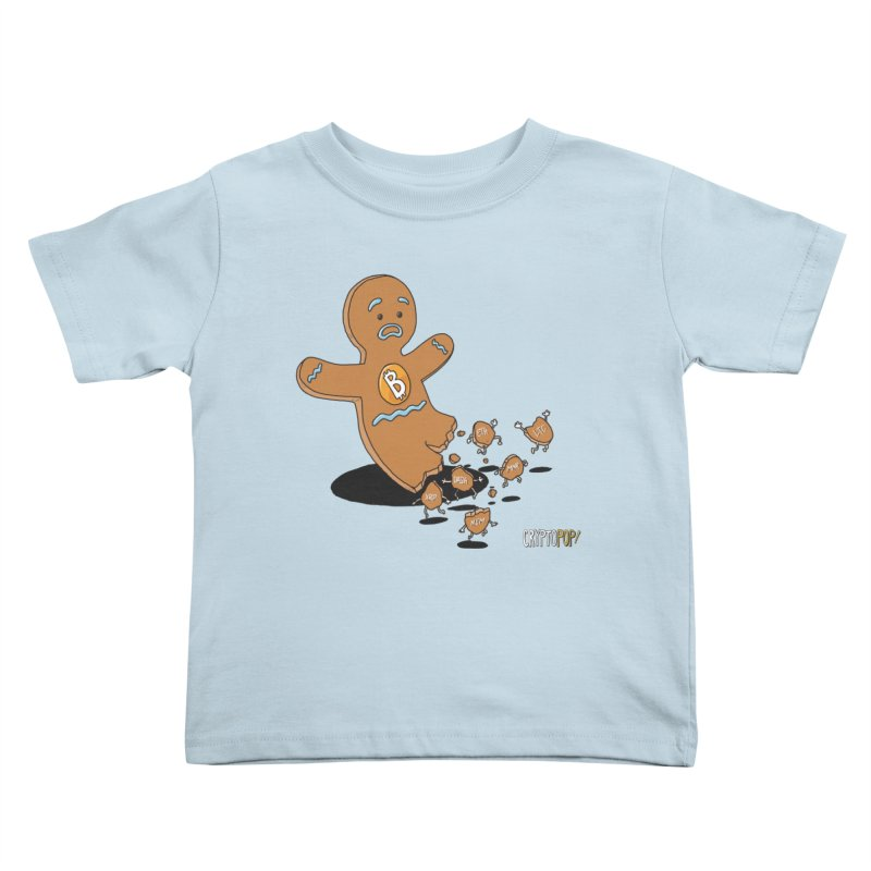 Bitcoin Gingerbread Man Kids Toddler T-Shirt by cryptopop's Artist Shop