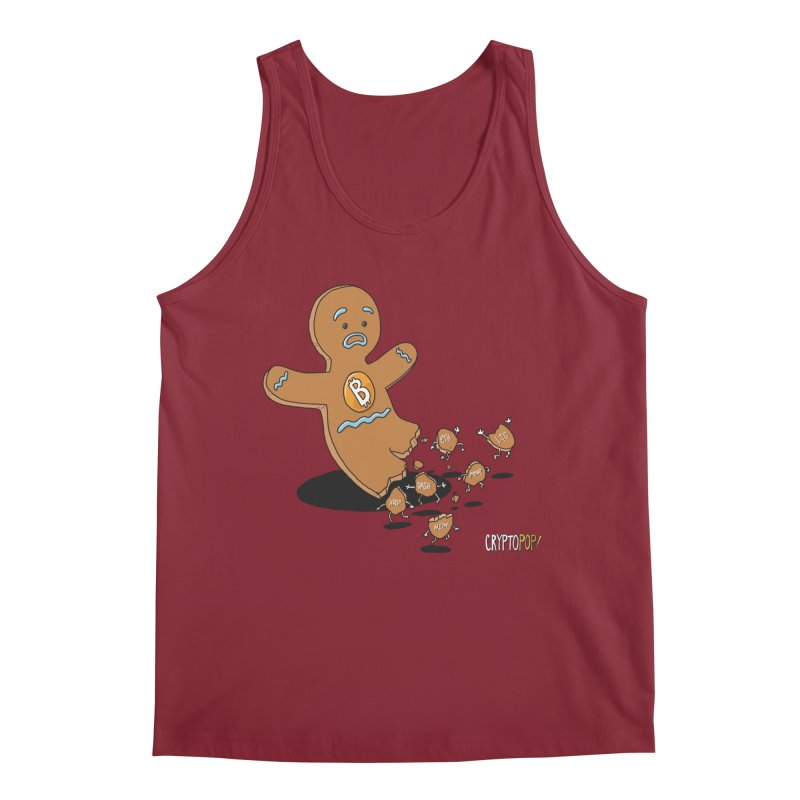 Bitcoin Gingerbread Man Men's Tank by cryptopop's Artist Shop