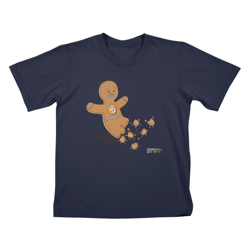 Bitcoin Gingerbread Man Kids T-Shirt by cryptopop's Artist Shop