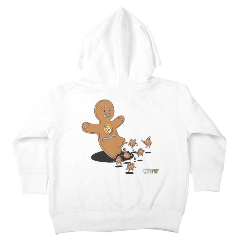 Bitcoin Gingerbread Man Kids Toddler Zip-Up Hoody by cryptopop's Artist Shop