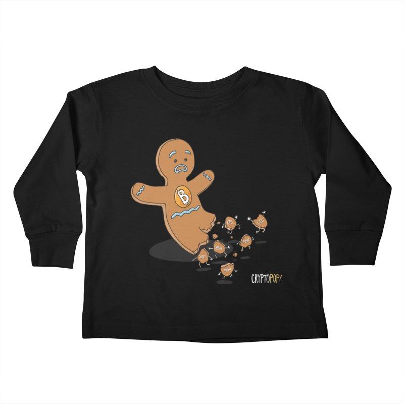 Bitcoin Gingerbread Man Kids Toddler Longsleeve T-Shirt by cryptopop's Artist Shop